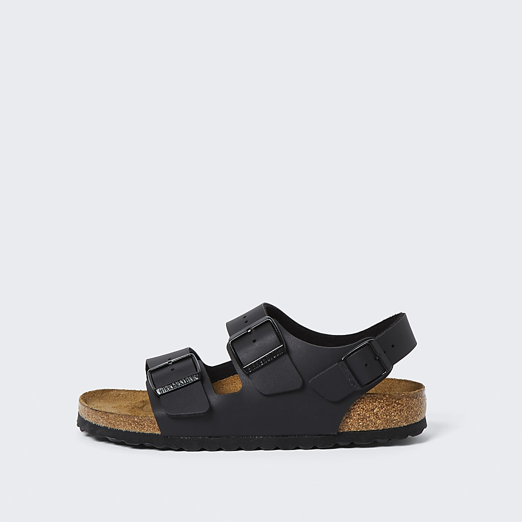 Birkenstock black triple strap sandals