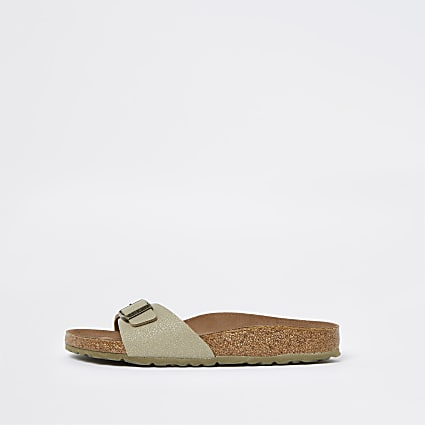 Birkenstock brown vegan one strap sandal