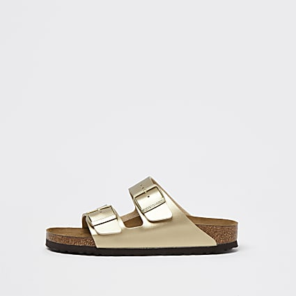 Birkenstock gold double strap sandals