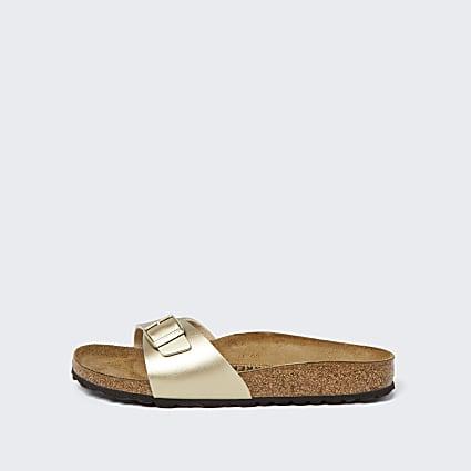 Birkenstock gold madrid sandals