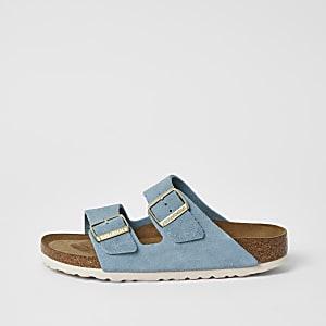 Birkenstock - Lichtblauwe Arizona-sandalen