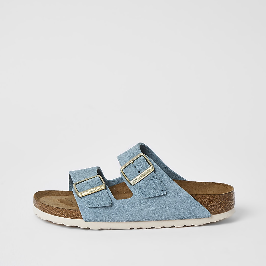 Birkenstock light blue Arizona sandals