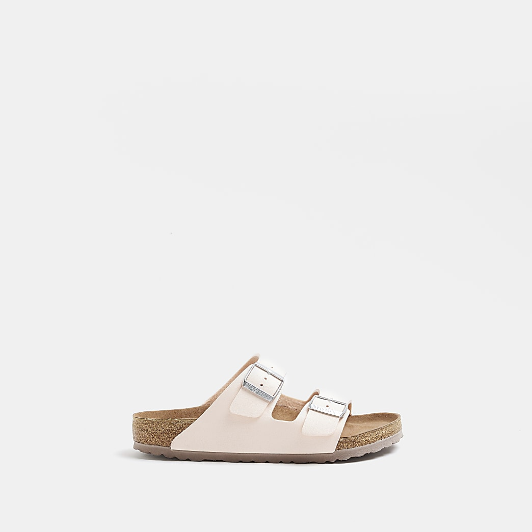Birkenstock light pink Arizona sandals