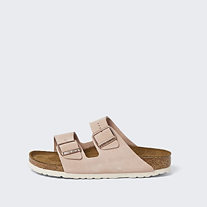 Birkenstock pink Arizona sandals