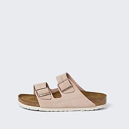 Birkenstock pink Arizona sandals