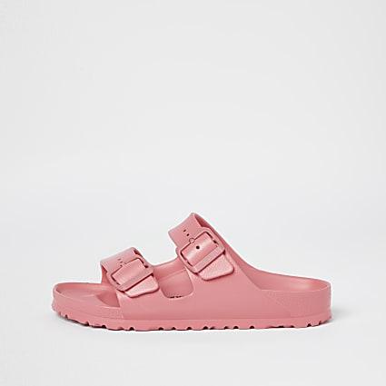 Birkenstock pink double strap sandals