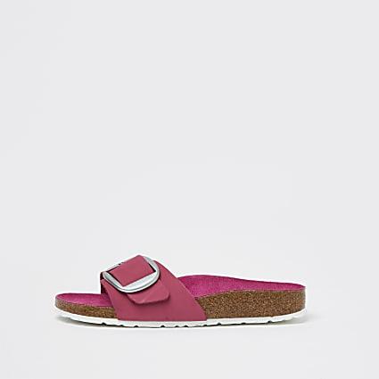 Birkenstock pink large buckle sandal