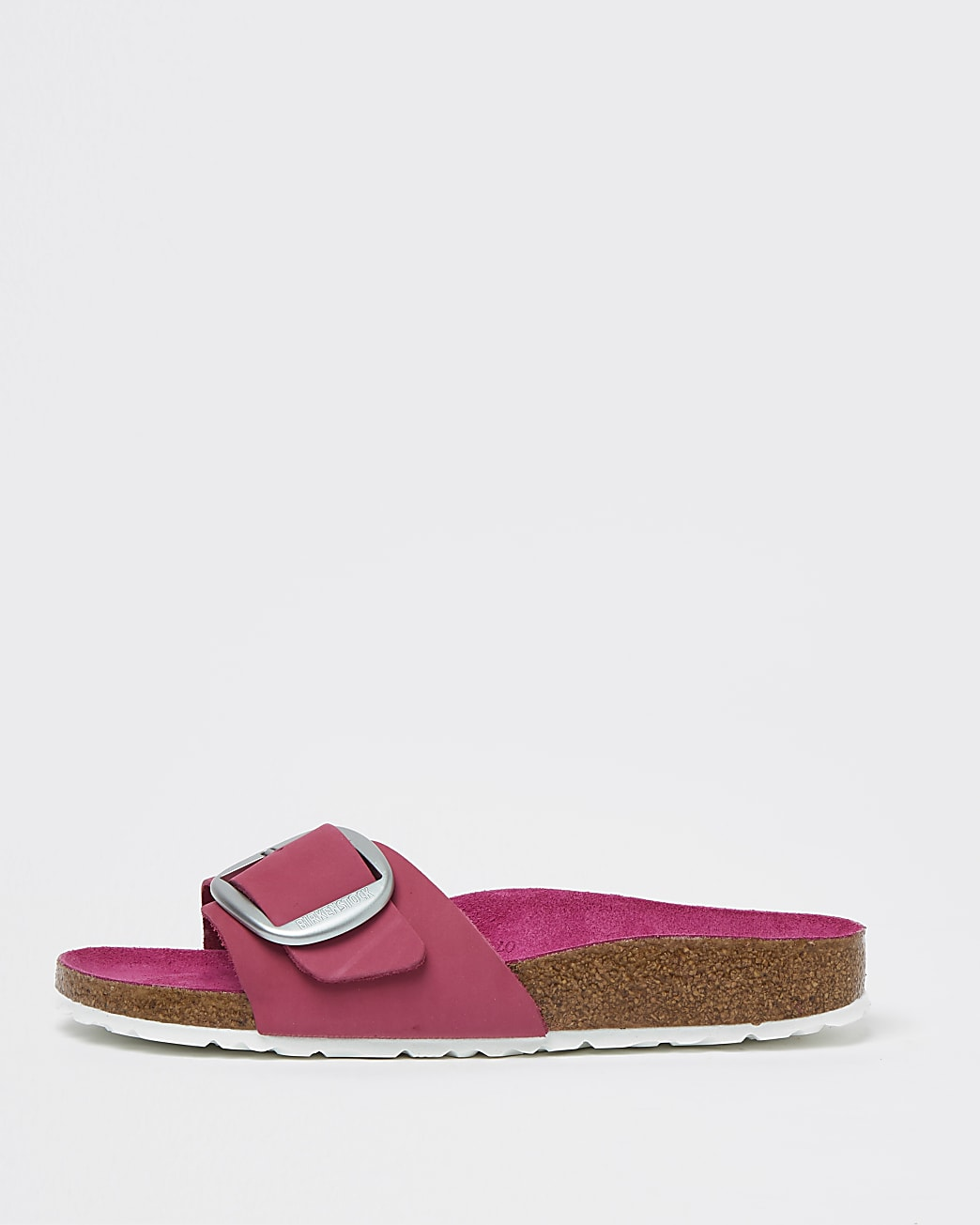 Birkenstock pink large buckle sandals