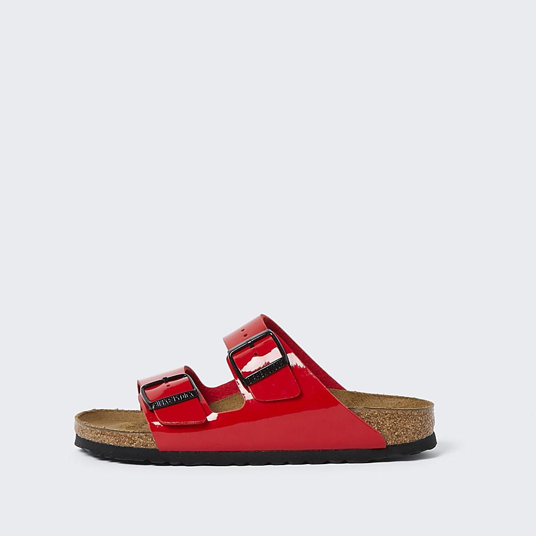 Birkenstock red double strap sandal