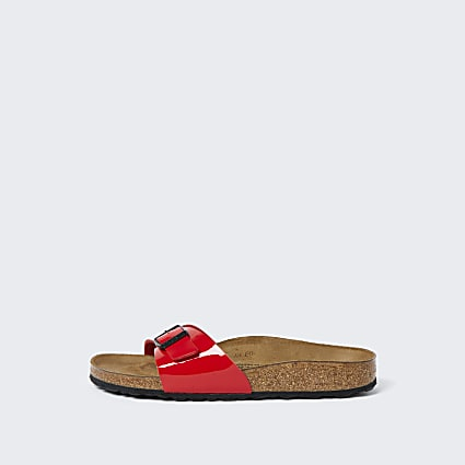 Birkenstock red one strap sandal