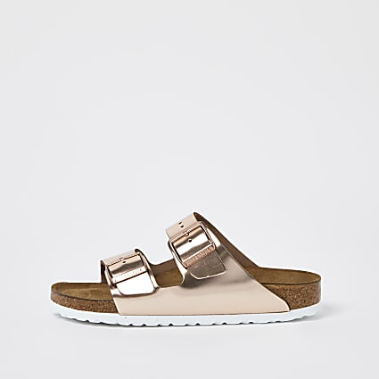 Birkenstock rose gold Arizona sandal