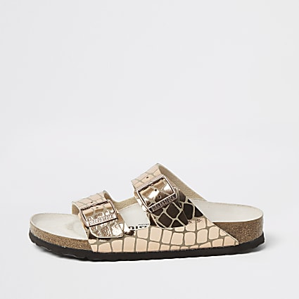 Birkenstock rose gold Gleam Arizona sandal