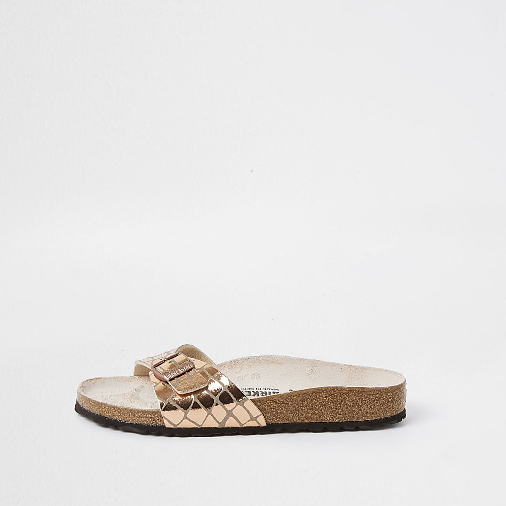 Birkenstock rose gold Gleam Madrid sandal