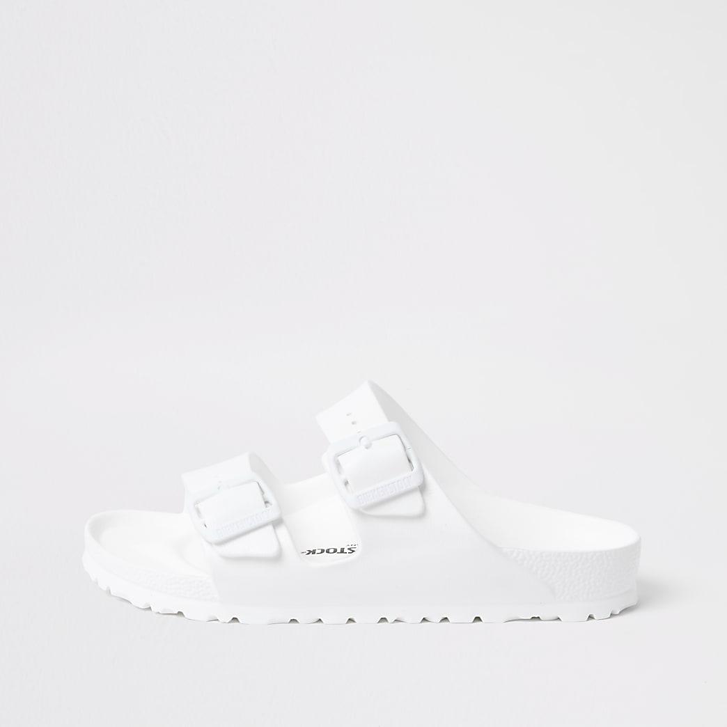 Birkenstock white Arizona EVA sandals