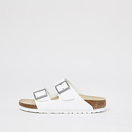 Birkenstock white double strap sandal
