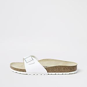 Birkenstock – Sandales Madrid blanches