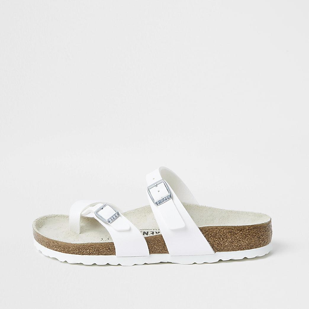 Birkenstock- Witte Mayari teen-sandalen