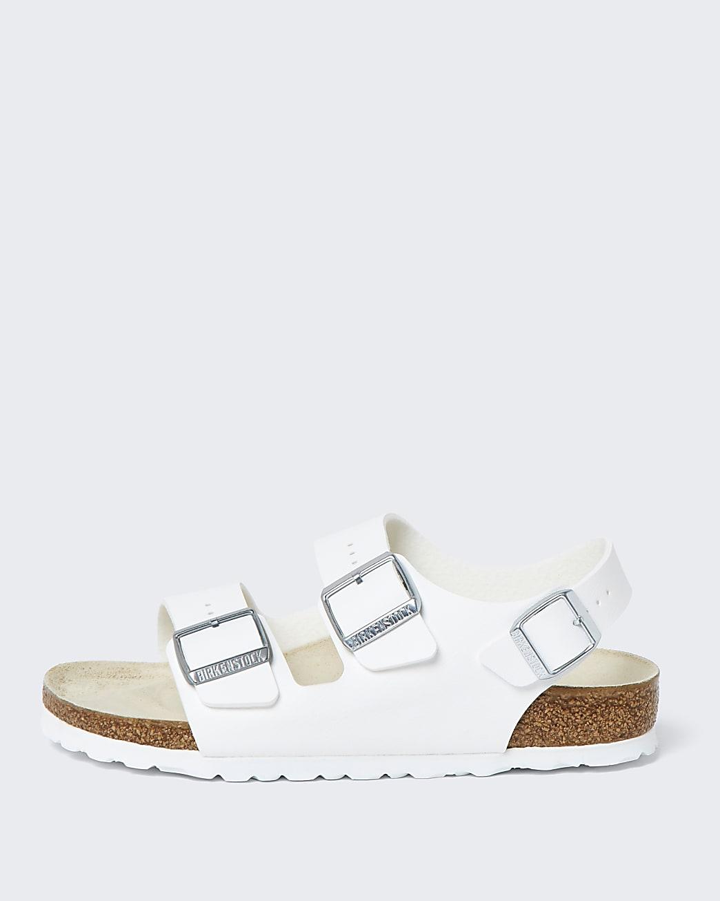 Birkenstock white triple strap sandals