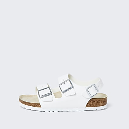 Birkenstock white triple strap sandals