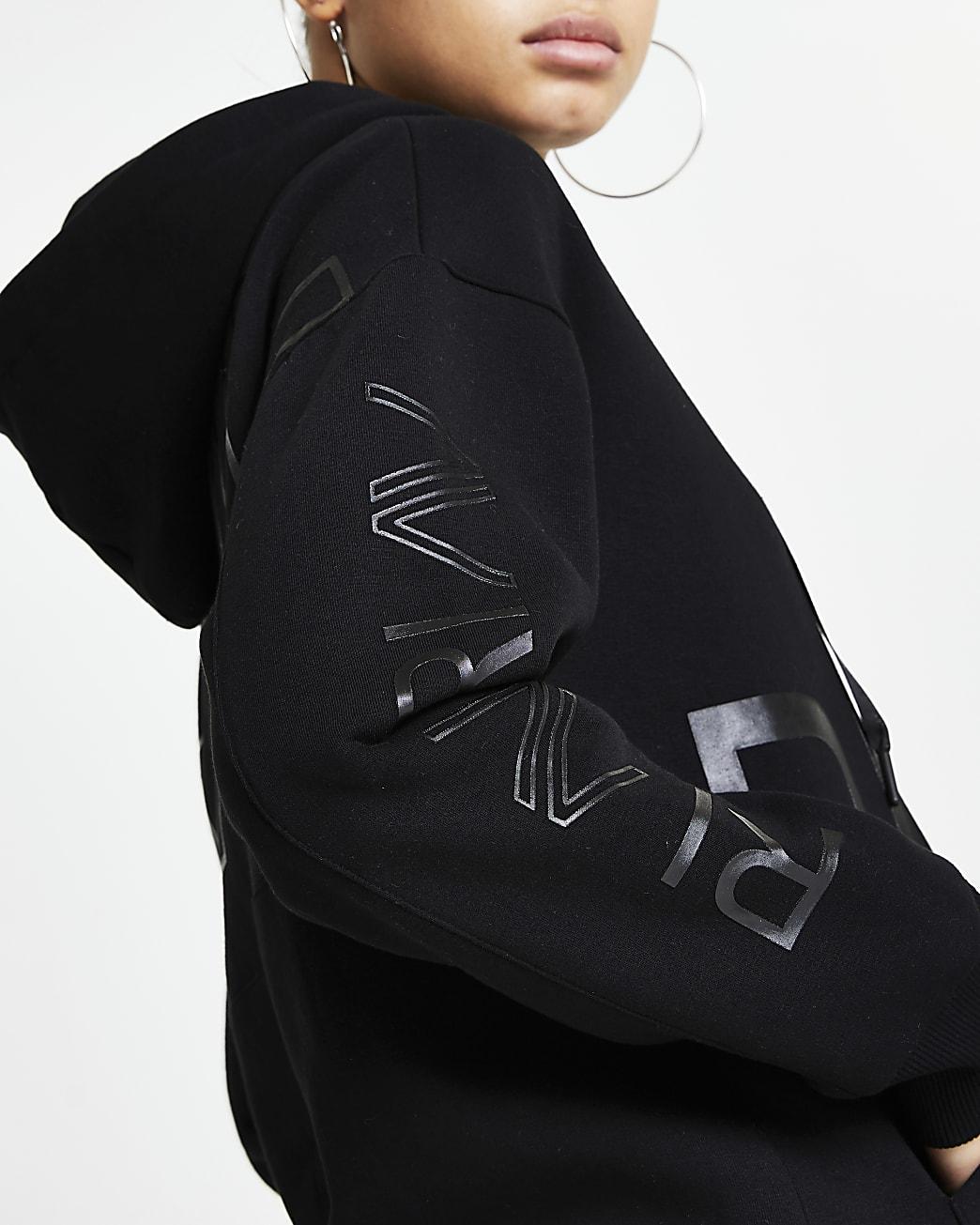 Black  RI Active zip up hoodie