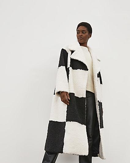 Black & White RI Studio Borg Coat