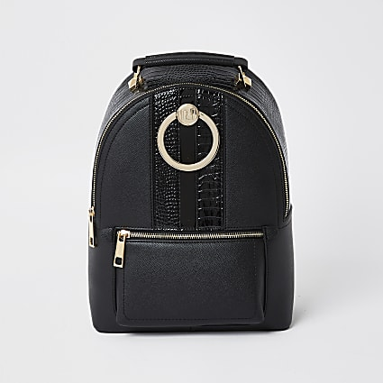Black 3874 Circle Ring Backpack