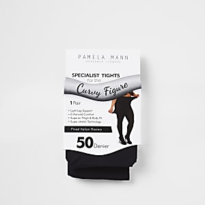 Zwarte plus size panty van 50 denier