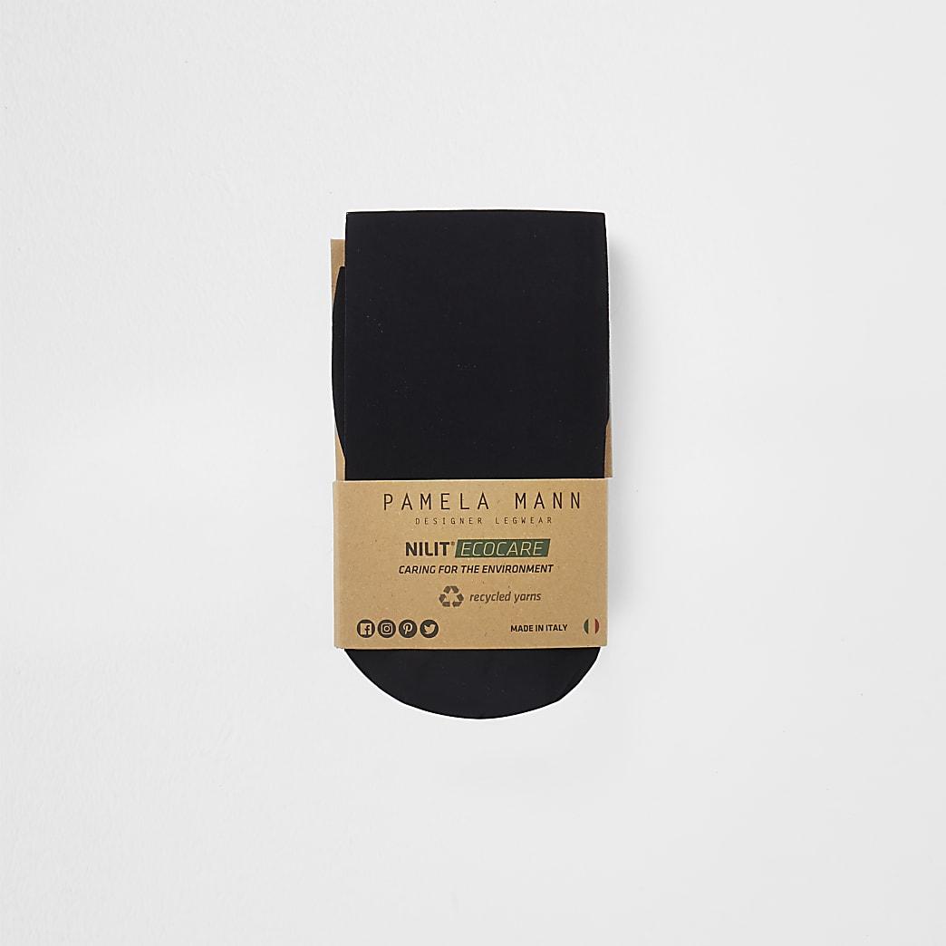 Black 50 denier recycled yarn tights