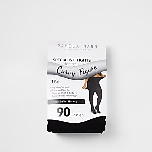 Zwarte plus size panty van 90 denier