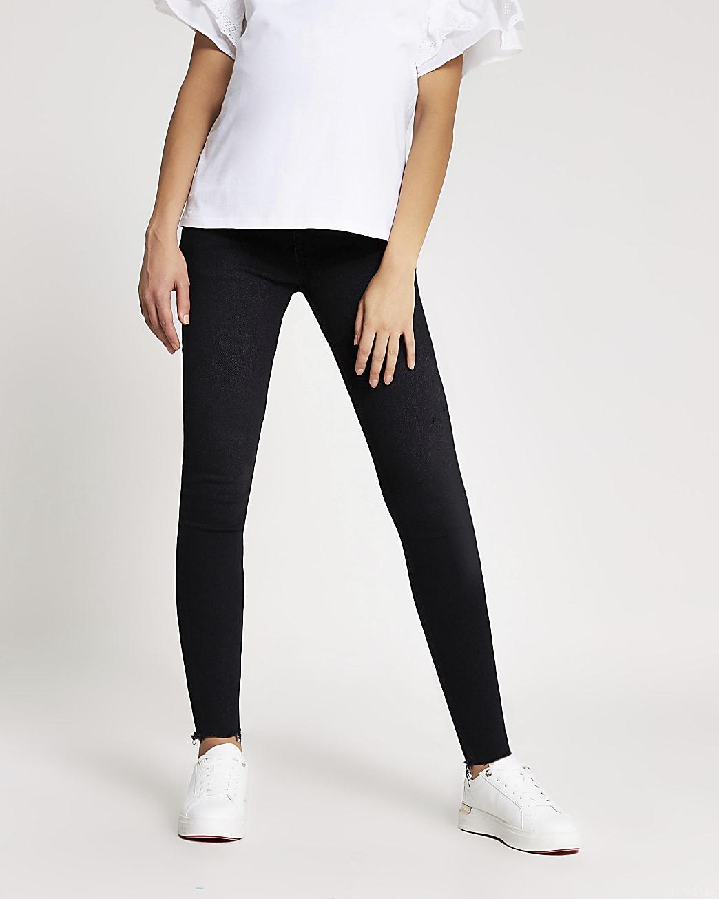 Black Amelie underbump maternity jeans
