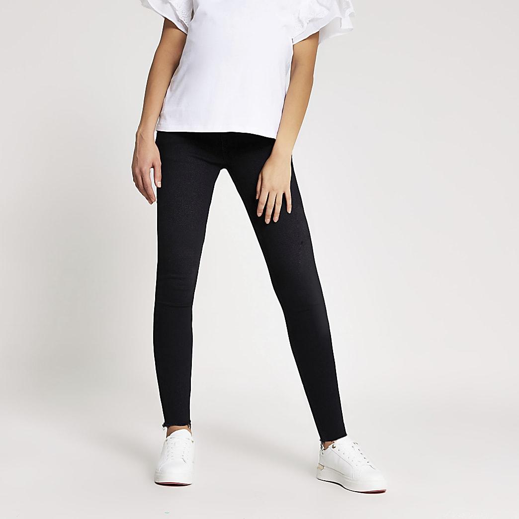 """Schwarze Jeans """"Amelie"""" mit Bauchausschnitt für werdende Mütter"""