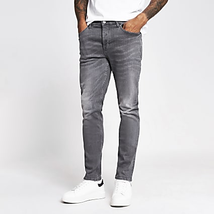 Black and grey Dylan slim denim jeans 2 pack