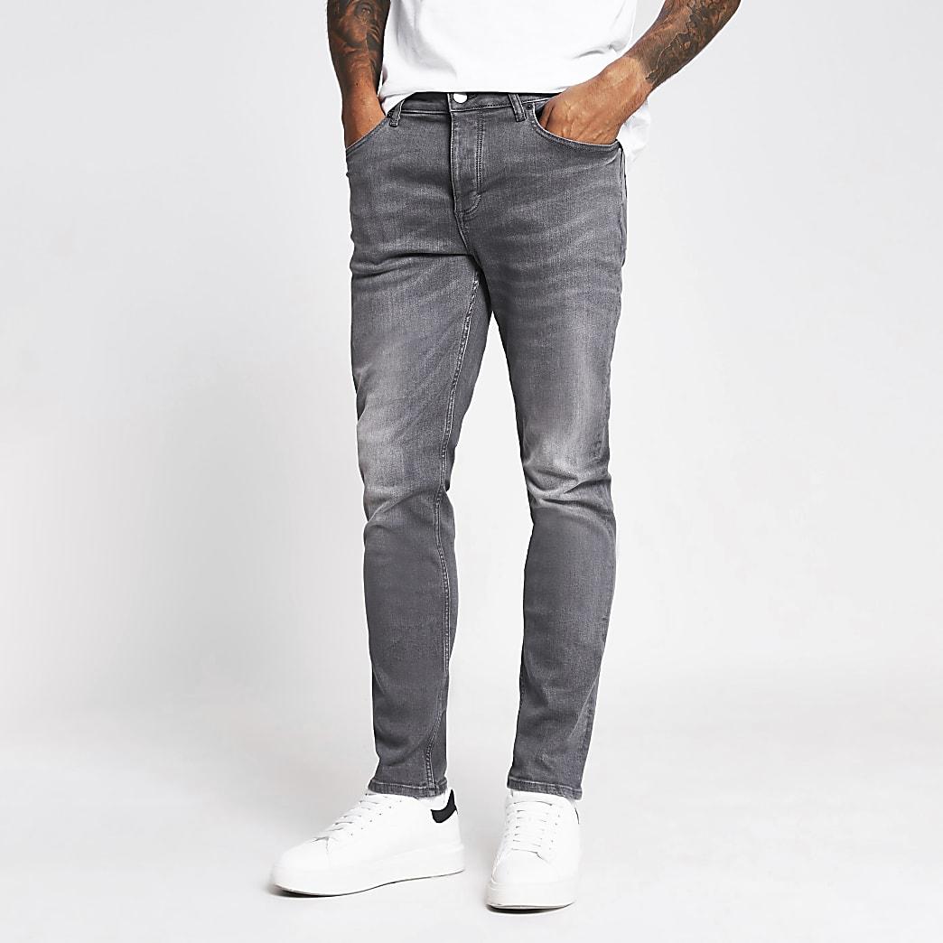 Black and grey Dylan slim denim jeans 2 pack