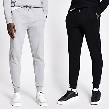 Black and grey joggers 2 pack