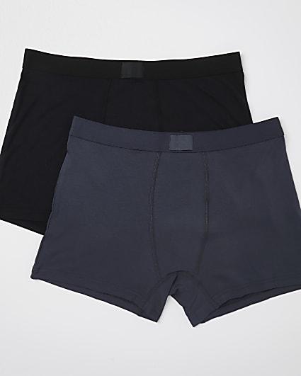 Black & grey premium trunks 2 pack