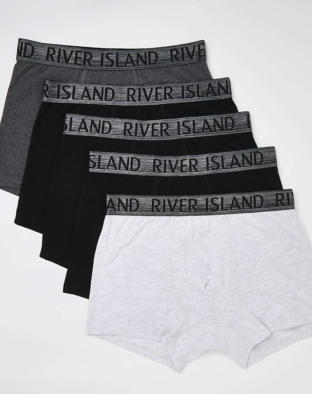 Black and grey RI branded trunks 5 pack