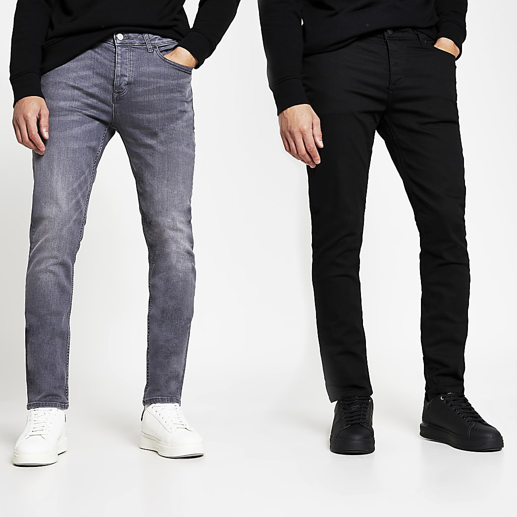 Black and Grey slim multipack denim jeans