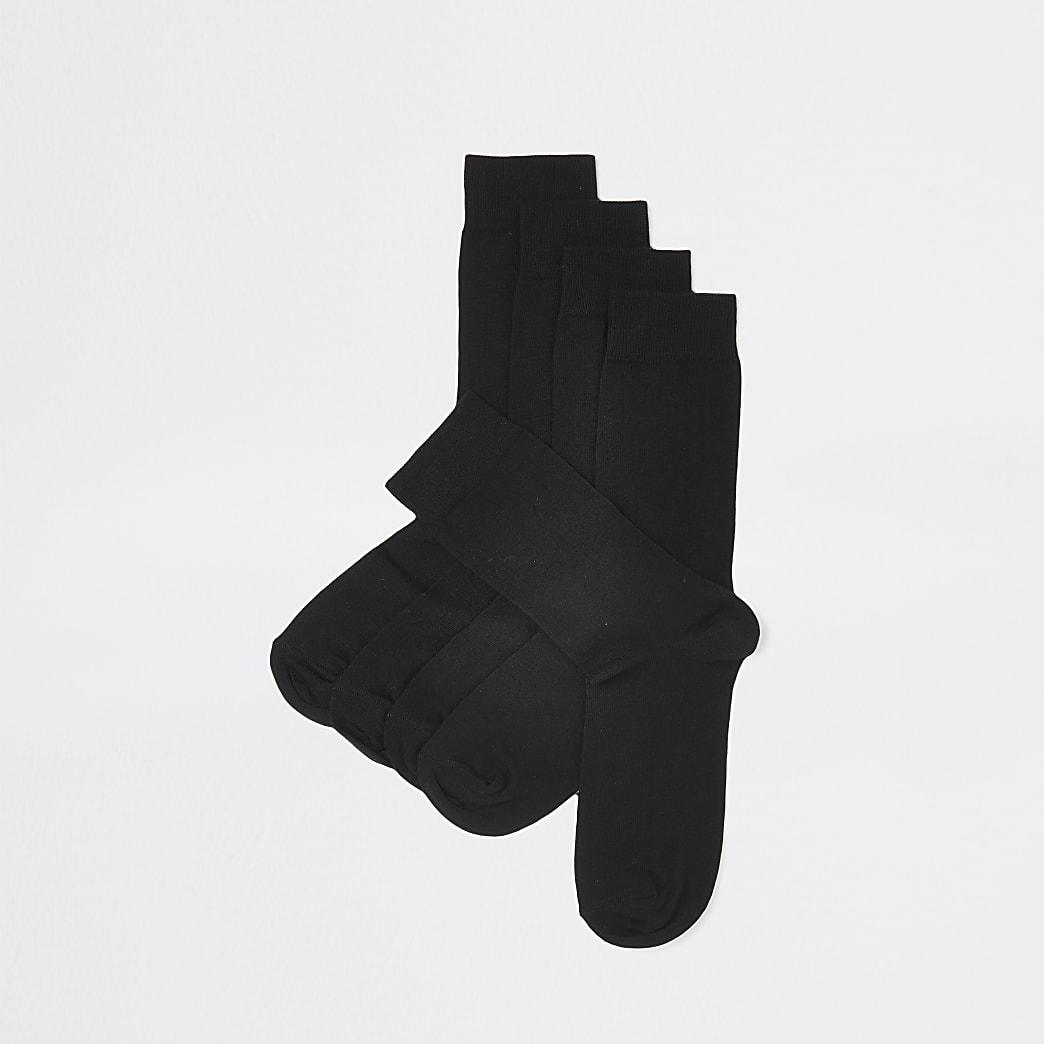 Black ankle socks 5 pack