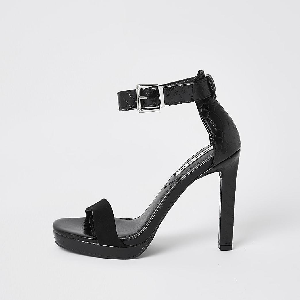 Black ankle strap sandal