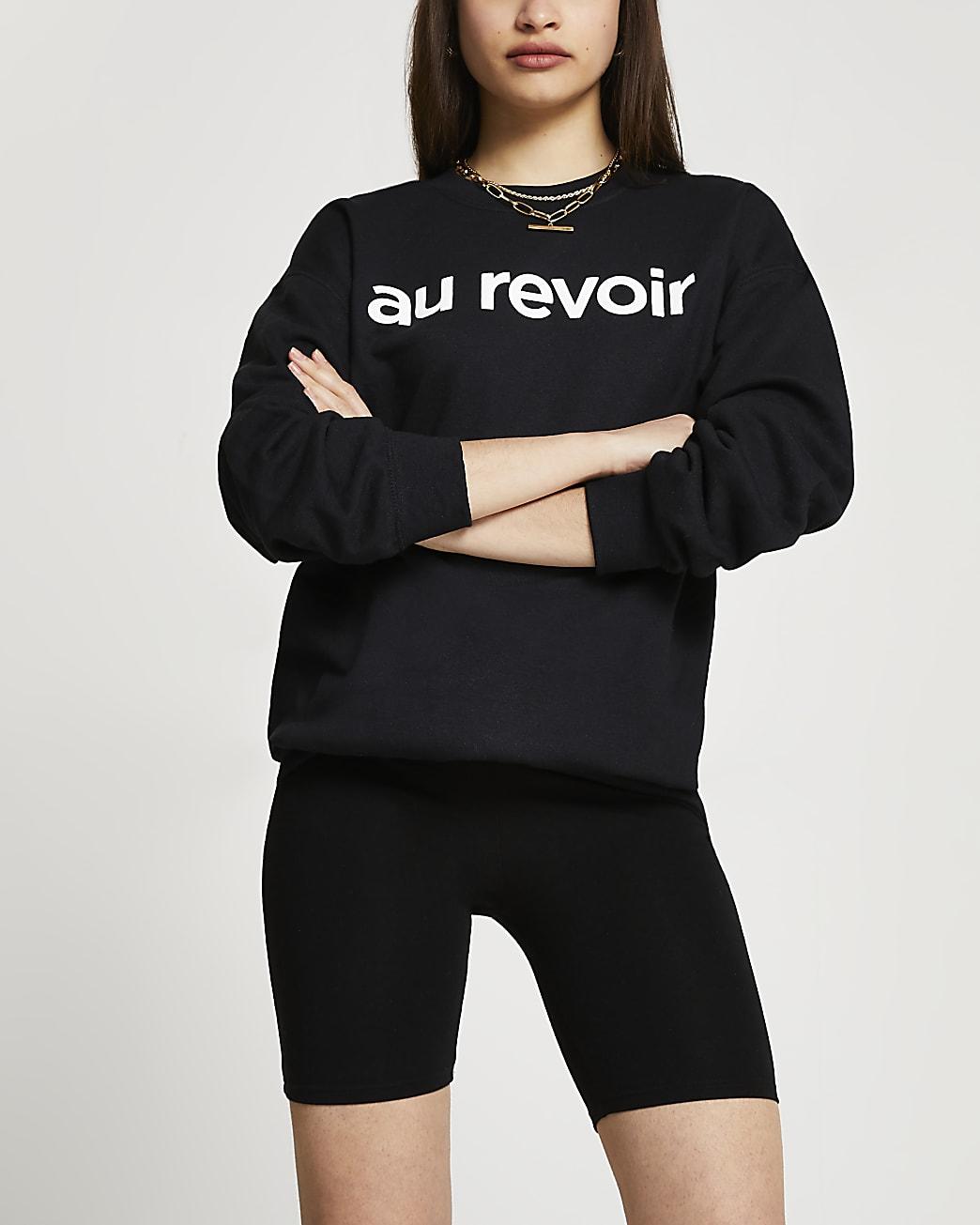 Black 'Au Revoir' sweatshirt