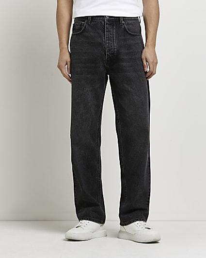 Black baggy fit jeans