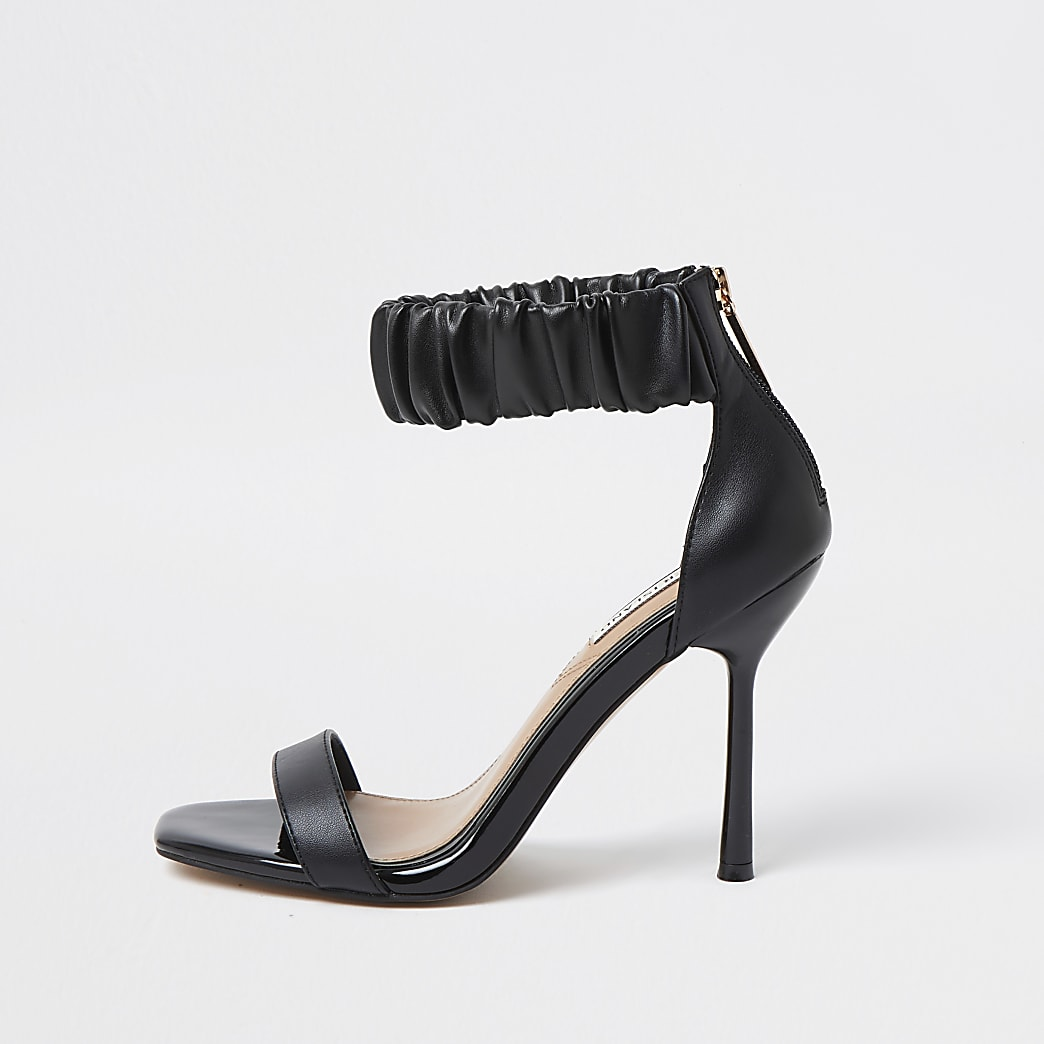 Black barely there sandal