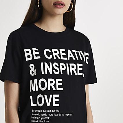 Black 'Be Creative & Inspire' t-shirt