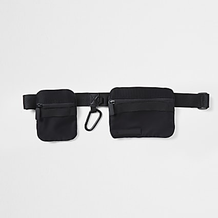 Black belt pouch bag