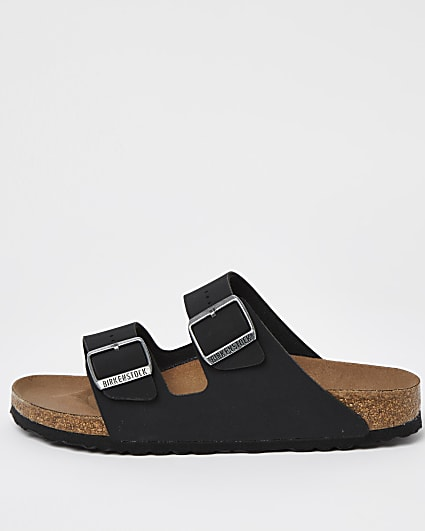 Black Birkenstock double strap sandals