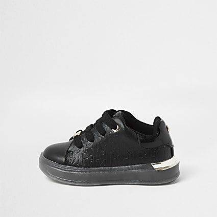 Black black RI Monogram trainers