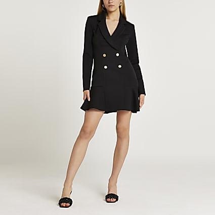 Black blazer mini dress