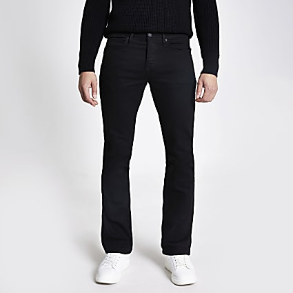 Black bootcut fit jeans