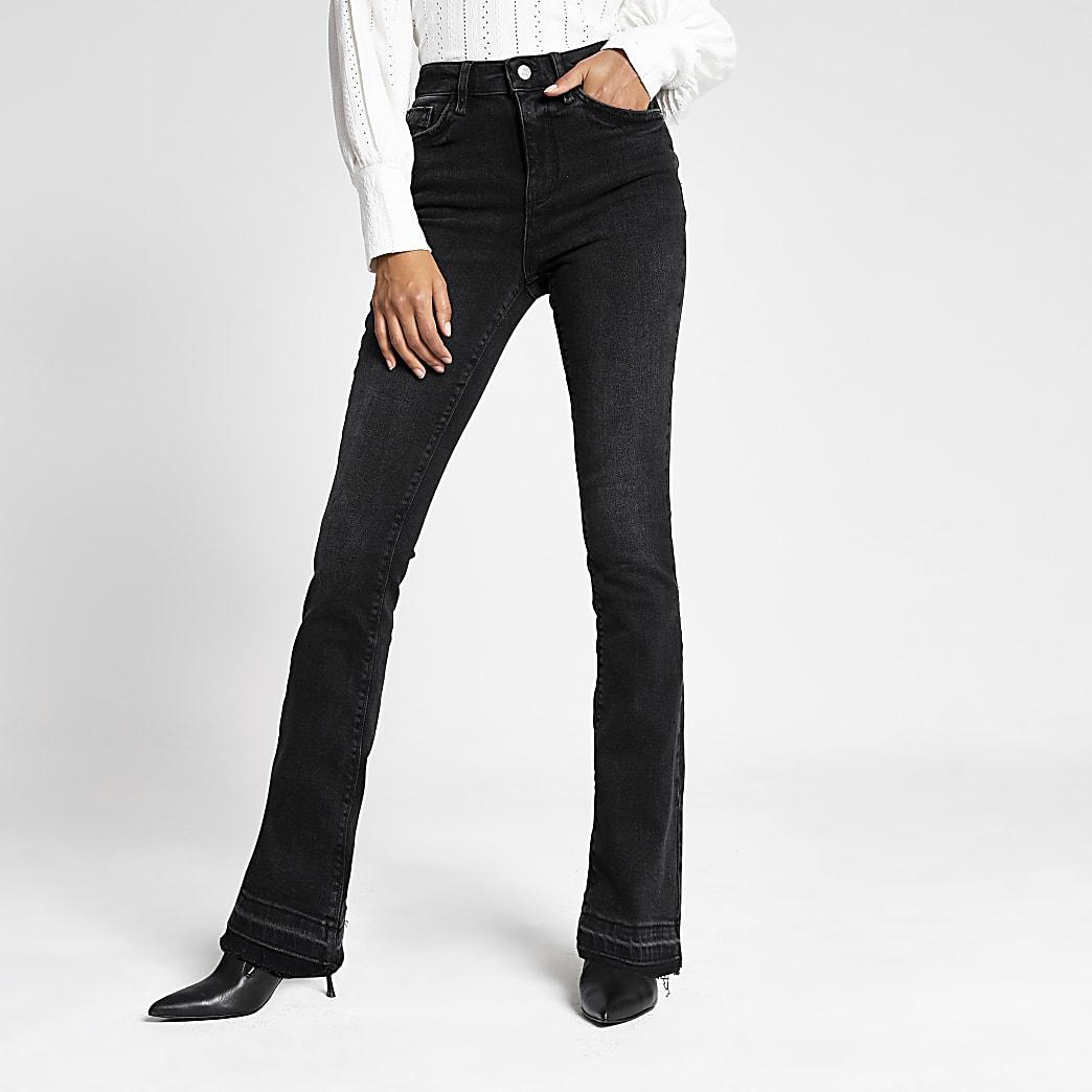 Schwarze Bootcut Jeans