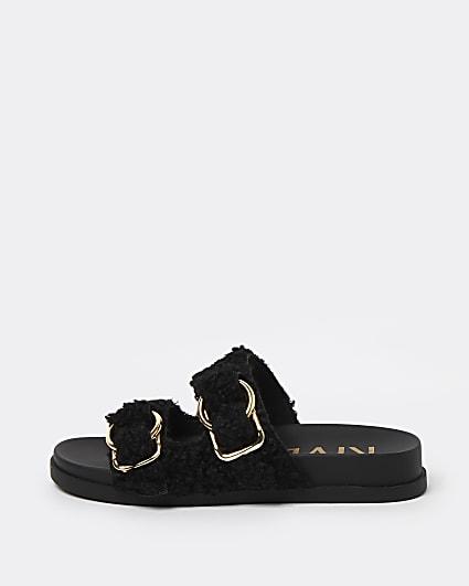 Black borg sandals